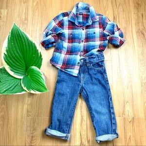 Baby Gap Toddler Boy Flannel Shirt Outfit